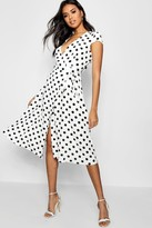 boohoo Boutique Olivia Polka Dot Wrap Dress
