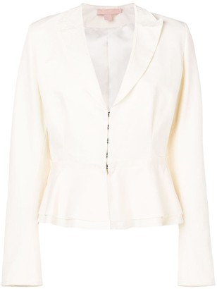 Brock Collection Fitted Antique-Style Blazer