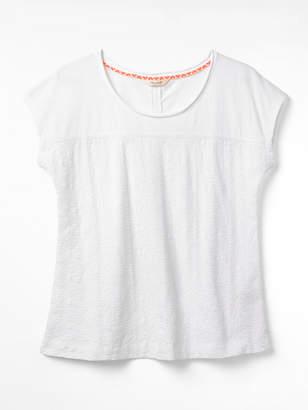 White Stuff Lorna Textured Jersey Tee