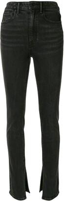 Alexander Wang Slit Cuff High-Rise Jeans