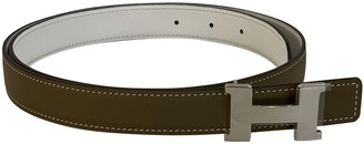 Hermã ̈S HermAs H Beige Leather Belts