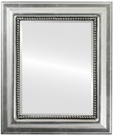 """The Oval And Round Mirror Store Heritage Framed Rectangle Mirror in Silver Leaf w/ Black Antique, 17""""x"""