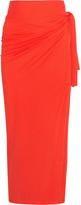 Eres Zephyr Peplum Cotton-jersey Pareo - Orange