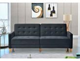 """Stetson Velvet 80"""" Square Arms Sofa Bed Corrigan Studio Fabric: Black"""