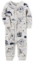 Carter's 1-Pc. Cotton Treasure-Print Coverall, Baby Boys (0-24 months)