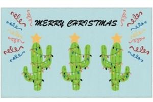 "Mohawk Christmas Cactus Accent Rug, 18"" x 30"" Bedding"