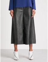 Stella McCartney Wide-leg cropped faux-leather trousers