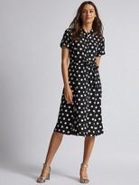 Dorothy Perkins Spot Shirt Dress - Black