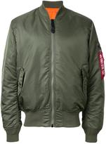 Alpha Industries ruched-sleeve bomber jacket