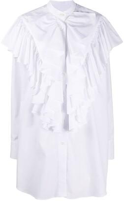 AMI Paris Extra Ruffled Long Sleeved Shirt