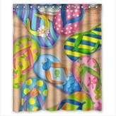 "Innovation Beautiful Beach?Sand Seashells Starfish Shower Curtain Mildew Waterproof Polyester Fabric Bathroom Shower Curtain Size 66"" x 72"" Inch"