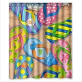 "Library Shower Curtain Custom Neat Bookshelf,Library Waterproof Polyester Fabric Bathroom Shower Curtain 66"" x 72"""