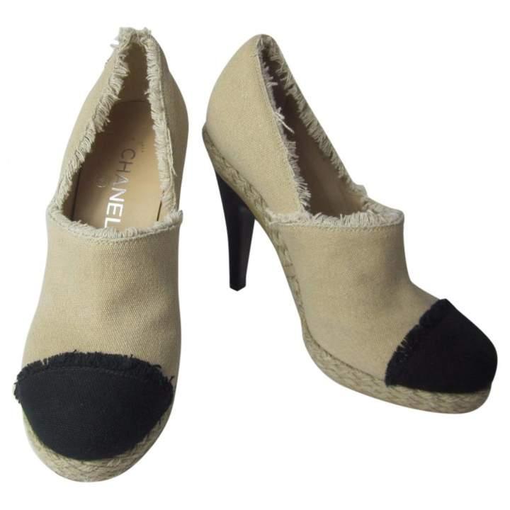 Chanel Beige Leather Heels