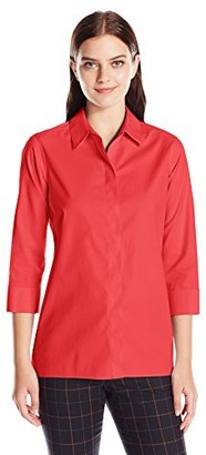 Foxcroft Women's 3/4 Sleeve Gigi Tunic in Solid Stretch Non Iron