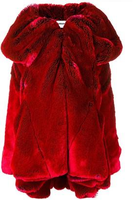 Chalayan short drape collar coat