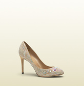 Gucci Suede Pump With Crystals