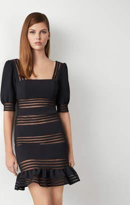 BCBGMAXAZRIA Puff Sleeve Mini Dress