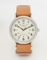 Timex Watch Weekender Leather Strap Watch T2P492