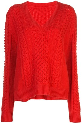 Jason Wu V Neck Sweatshirt