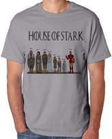 Games of Thrones funny House of stark and iron man for X-Large sport grey Men T-shirt