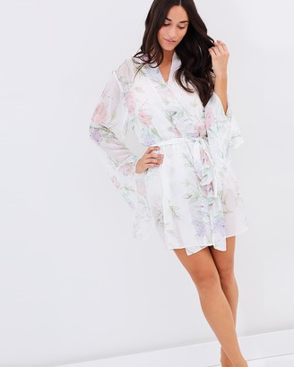 Homebodii Sofia Chiffon Kimono Robe