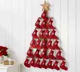 Pottery Barn Stocking Tree Advent Calendar