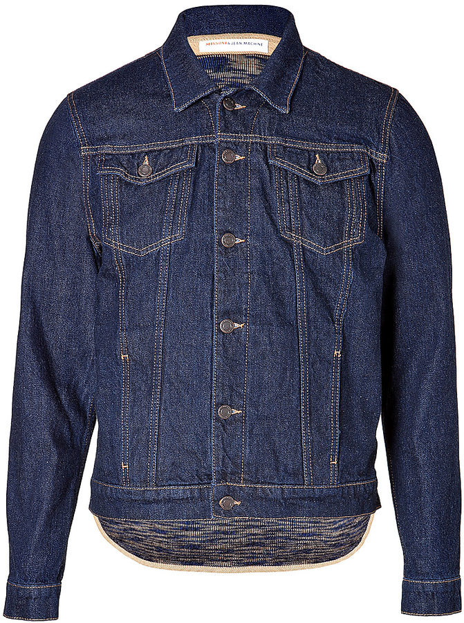 Missoni Cotton Jean Jacket with Removable Mohair/Wool Vest