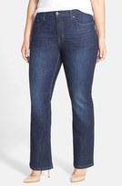 Melissa McCarthy Stretch Slim Bootcut Jeans (Gordon) (Plus Size)