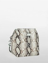 Calvin Klein Enveloped Snake Bucket Bag