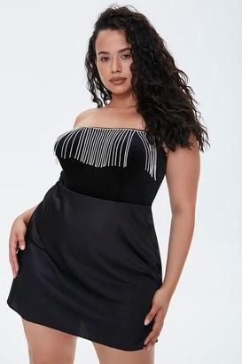 Forever 21 Plus Size Satin Mini Skirt