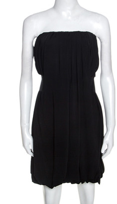 McQ Black Knit Strapless Balloon Dress L