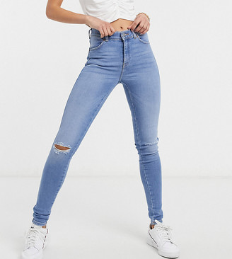 Dr. Denim Tall Lexy ripped skinny jeans in light blue