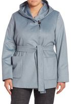 Marina Rinaldi, Plus Size Oporto Virgin Wool Hooded Coat