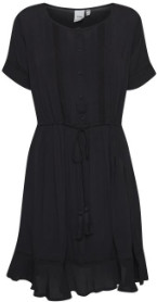 Ichi Ihfernanda DR Black Dress - black | viscose | L . - Black/Black