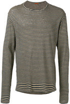 Barena striped longsleeved T-shirt - men - Linen/Flax - M