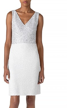 St. John Sequin Knit V Neck Dress