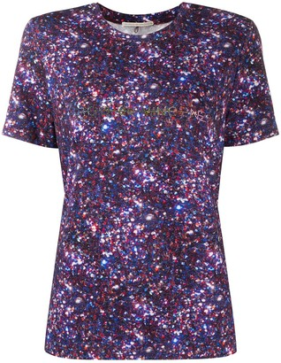 Marco De Vincenzo Short Sleeve Glitter Detail Top