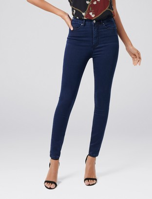 Forever New Bella High-Rise Sculpting Jeans - Indigo Power Stretch - 4