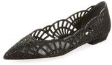 Giorgio Armani Cut-Out Leather Ballet Flat