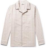 Sleepy Jones - Henry Piped Checked Cotton Pyjama Shirt