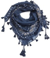Capelli of New York Girl's Bandana Scarf With Tassels