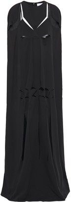 Maison Margiela Cape-effect Cutout Satin-crepe Gown