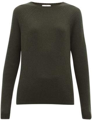 Allude Ribbed Cashmere Sweater - Womens - Khaki