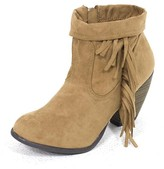 E.m. West Coast Wardrobe West Coast Wardrobe Give the Boot Fringe Bootie in Camel