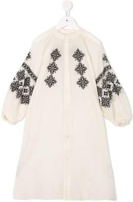 Denim Dungaree pattern dress