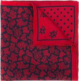 Alexander McQueen printed pocket sqaure - men - Silk - One Size