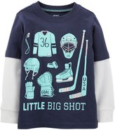 Carter's Graphic Two Fer (Toddler/Kid) - Navy-2T