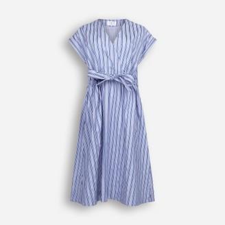Libertine-Libertine Royal Blue Cotton Stripe Dream Dress - XS - Blue