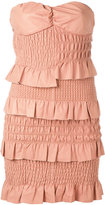 Drome ruched and ruffled dress