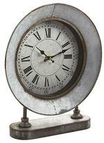 Pier 1 Imports Galvanized Farmhouse Desk Clock